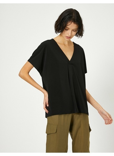 Koton Koton Siyah T-Shirt Siyah